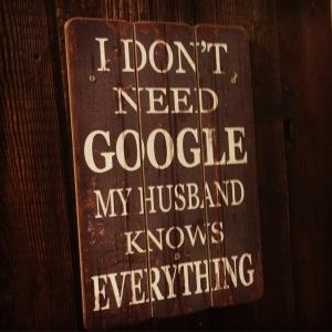 google-schild
