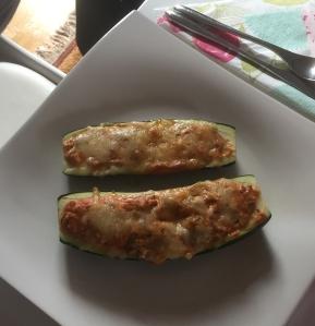 Zucchini mit fleisch